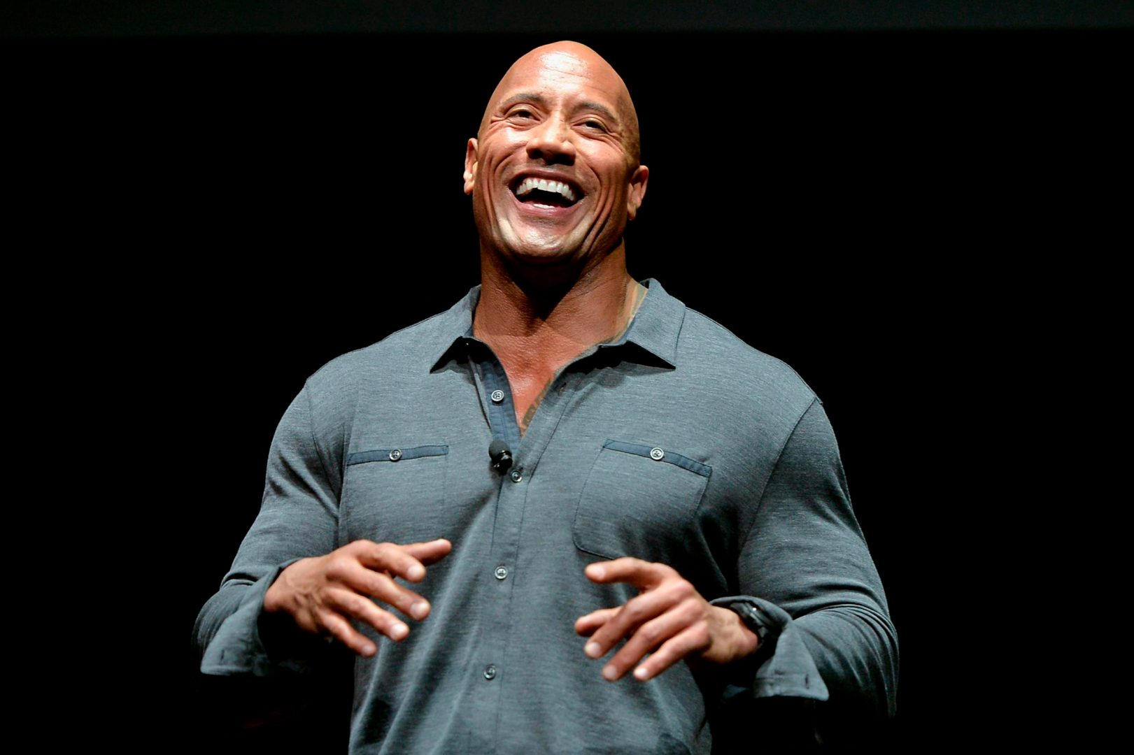El actor Dwayne Johnson, la roca