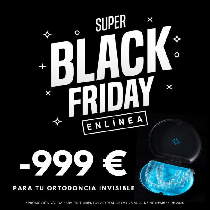 Black Friday en Centros ENLÍNEA: ¡999€ en regalos para tu Ortodoncia Invisible!